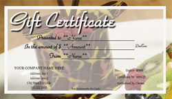 Bakery Gift Certificate Templates | Easy to Use Gift ...