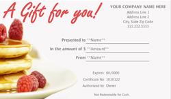 Restaurant Gift Certificate Template - Restaurant gift certificate template