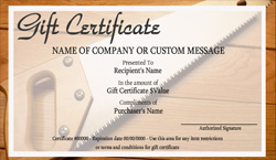 Home Maintenance Gift Certificate Templates Easy To Use