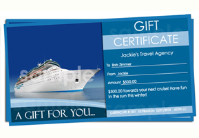 Travel Gift Certificate Templates Easy To Use Gift Certificates