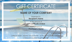 Pool And Spa Cleaning Gift Certificate Templates Easy To
