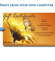 Print Gift Certificate