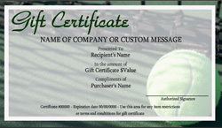 Tennis Gift Certificate Templates | Easy to Use Gift ...